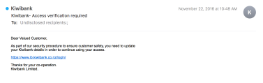Email phishing sample 2